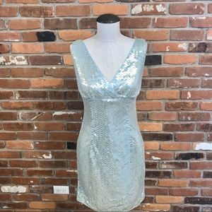 Papell Boutique Evening Sequin Dress Size 8